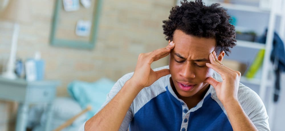 Man with Tension-Type Headache