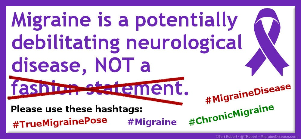 Migraine is not a fashion statement