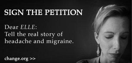 sign the Elle Migraine pose petition